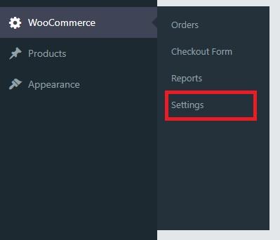 Settings Menu Item for WooCommerce